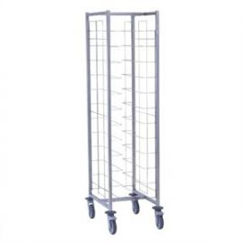 Heavy Duty Self Clearing Trolley 12 Levels - Commercial Kitchen School Canteen Restaurant Bakery Cafe Food Tray Clearing Trolley