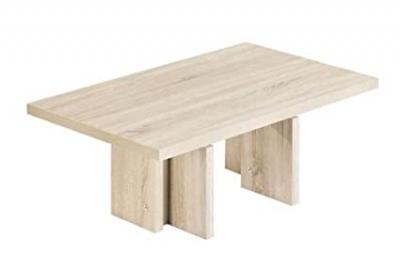 Vierhaus I-2225 ESP Coffee Table Rough-Cut Oak Effect Light Height 110 / 68 / 47–66 CM high