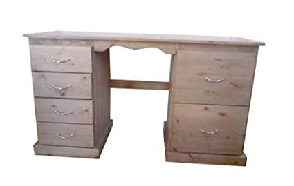 Wye Pine Desk with 2 Filing Drawers - Finish: Lacquer - Stain: Waterbased