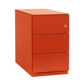 Bisley NW359M7SSS 49 cm Note Pedestal 3 Stationery Drawers - Mandarin