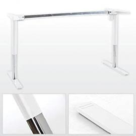 Electrically adjustable desk, width variable from 116-176cm, white