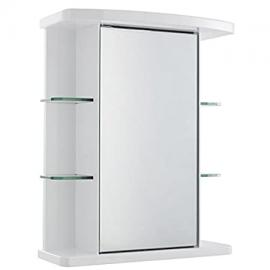 Durable White High Gloss Finish Mirror Cabinet - One Internal Shelf Included - Film Backed Glass Mirror For Added Safety - Quick And Easy Installation
