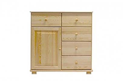 Dresser solid natural pine wood 049 - Dimensions 100 x 100 x 42 cm (H x B x T)