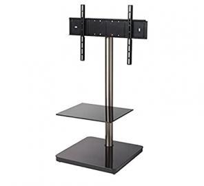 "B-Tech BTF800 60"" Portable Black - flat panel floor stands (Black, Portable flat panel floor stand, Glass, Metal, 152.4 cm (60""), TV, 30 kg)"