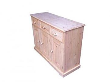 Wye Pine Traditional 4ft Sideboard - Finish: Wax - Stain: Waterbased