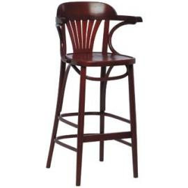 Kitchen / Breakfast Bar Chairs - Bentwood Fan Back Highstool (Walnut) (Pack 2) - stylish and robust furniture for your home or business