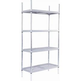 4 tier Nylon Coated Wire Shelving