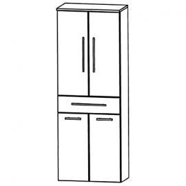 In Kera Trends Tall Cupboard (HNA056A7W) Bathroom, 60cm