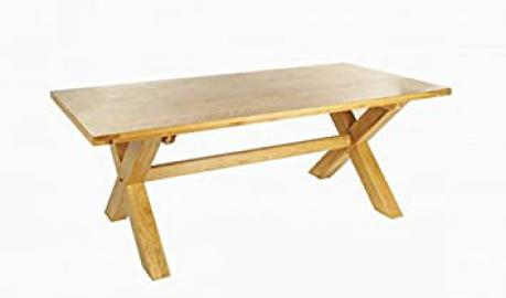 Ametis Provence Oak Fixed Top Dining Table With Cross Leg - 210 cm BLAMI0217