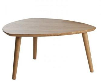 Four I 1859/White Coffee Table Solid Wild Oak 80/70/40 cm
