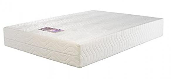 Concept Memory Sleep Laytec 3000 Foam Mattress - Single (Luxury Quilted Zip-Off Cover), Fabric, Multicolour