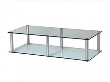 GEM Slender 2 shelf clear Hifi/TV Stand 800x400