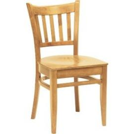 Winware Wooden Side Chair Natural Finish