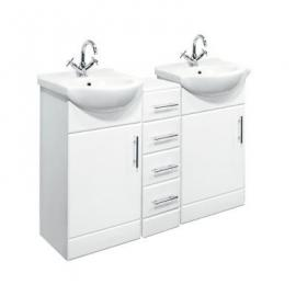 Desire 1200Mm Double Bathroom Set 450Mm Vanity Unit And Drawers