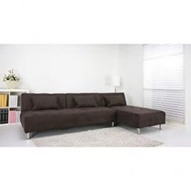 Leader Lifestyle Large Maison Fabric Platform Sofa Bed, Chocolate Brown