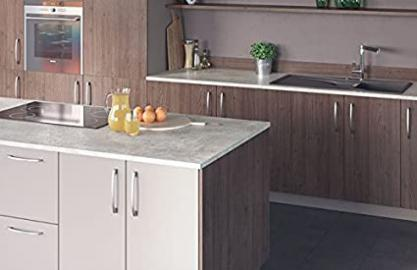 Egger Premium Ceramic Chalk Effect Kitchen Bathroom Laminate Worktop Offcut Work Surface 25mm Breakfast Bar - 1m x 920mm x 25mm Breakfast Bar