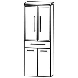 Perfect Cool Line Tall Cupboard (HNA056B5W) Bathroom, 60cm