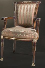 baroque armchair carved antique style MoCh1485
