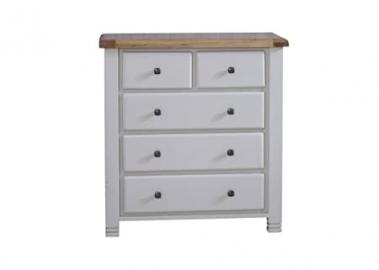 Happy Beds Woodstock 3 + 2 Drawer Chest Wooden Bedroom Furniture Storage Grey