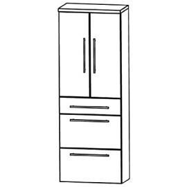 Kera Puris Trends (HNA096A7M Bathroom High Cabinet 60 CM