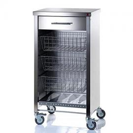 Don Hierro Vegetable Rack Stainless Steel Cook Kitchen Trolley