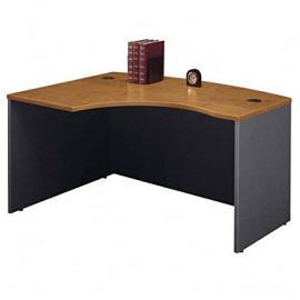 "Left ""L Corner Desk in Natural Cherry - Series C"
