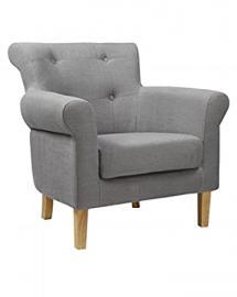 Pittsburgh Fabric Slate Grey Armchair