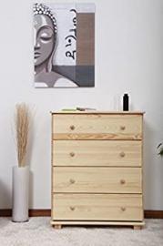 Dresser solid natural pine wood 016- Dimensions 100 x 100 x 47 cm (H x B x T)