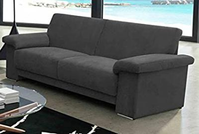 Oregon Microfibre FK Brown 3Seater Sofa