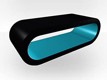 Black Outer Large Hoop Coffee Table - Teal Gloss Inner
