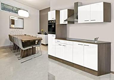 Respekta York Oak Fitted Kitchen/Empty Kitchen/Empty Units/270cm White