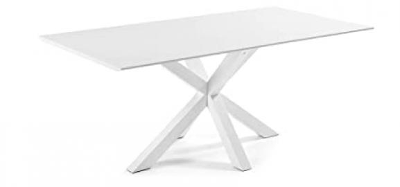 The Form-ARYA Table, White 200 X 100 Epoxy Lacquered High Gloss White