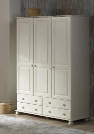 Richmond White Triple Wardrobe
