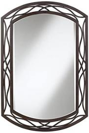"""Woven Bronze Metal 35 1/2"""" High Wall Mirror by Universal Lighting and Decor"""