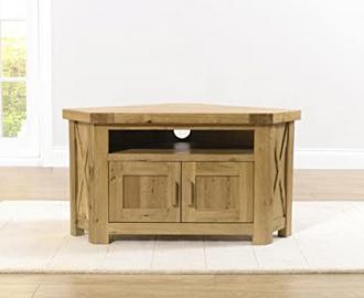 Paris Solid Oak Angled 2 Drawer TV Unit