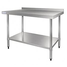 Vogue Stainless Steel Table with Upstand (1200mm)