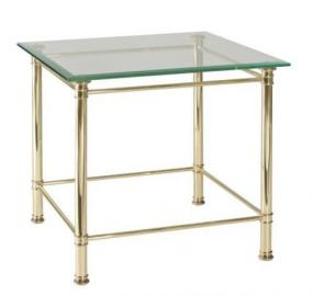 Four House 6338Mes Coffee Table with Glass Top
