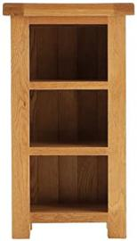 Pembroke oak furniture narrow bookcase cabinet with 3 shelves
