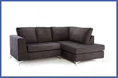 New England Corner Sofa - Grey Right Hand Side Orientation