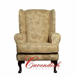 Cavendish Furniture Extra-Wide Luxury Orthopedic High Seat Chair, Fudge Brown