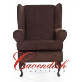 """Cavendish Deep Seat Orthopedic Chair in Brown 21"""" or 19"""" Seat Height (21"""" Seat Height)"""