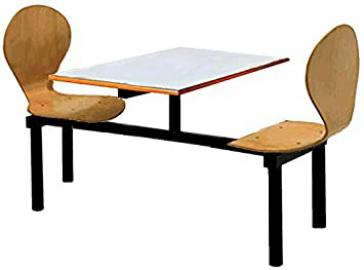 BUTTERFLY 2 SEATS MODULAR CANTEEN DINING FAST FOOD TABLE AND CHAIRS / SEATER UNIT - RESTAURANT CAFE BISTRO FACTORY