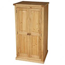 Chunky Solid Pine Kids Double Wardrobe - Furniture
