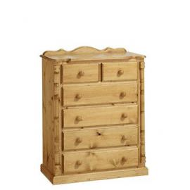 Ideal Furniture 3 + 2 Drawer Chest, Wood, Antique Pine