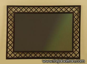 Wrought iron mirror MANHATTAN Model