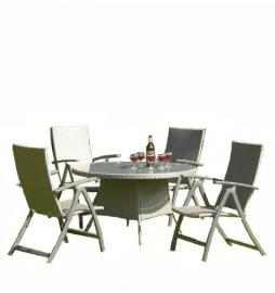 Transcontintental Siena 1.2m Rattan Dining Set