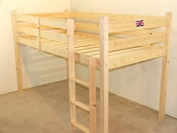 Childrens Cabin bed SHORT 2FT 6 Small Single Midi-Sleeper with sprung mattress - FAST DELIVERY