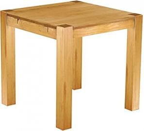 Brasil Furniture Dining Table Pine Wood Honey Coloured 'Rio Kanto' 73 x 73 x 78 cm