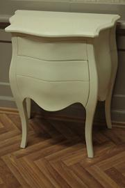 baroque chest of drawers 3 drawers creme colored laquere ohne handles