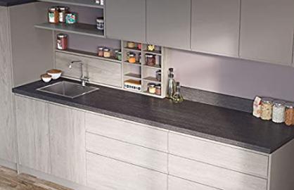 Egger Contemporary Tivoli Anthracite Effect Kitchen Bathroom Laminate Worktop Offcut Work Surface 40mm Breakfast Bar - 3m x 670mm x 38mm Breakfast Bar